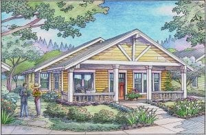 Color Rendering of Bungalow in Pocket Neighborhood