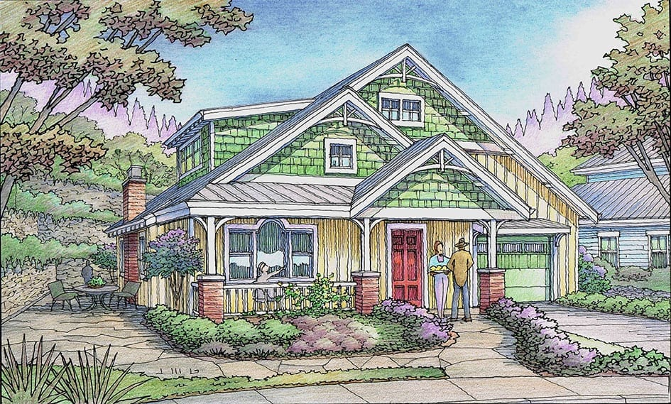 Color Rendering of New Cottage for Residential Project