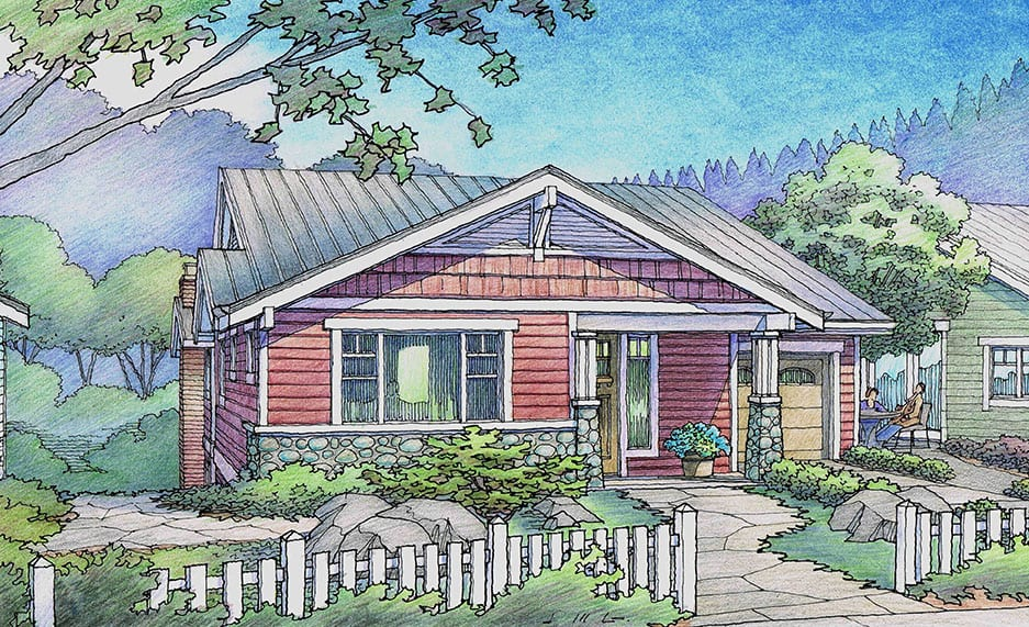 Rendering of Red Cottage for Rincon del Rio