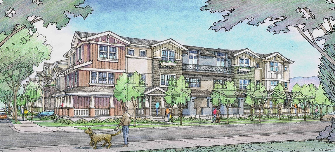 Color Rendering of Condos for San Carlos, California