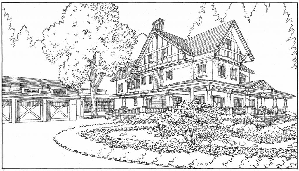 Line Drawing in Perspective for Bay Area Home Renovation