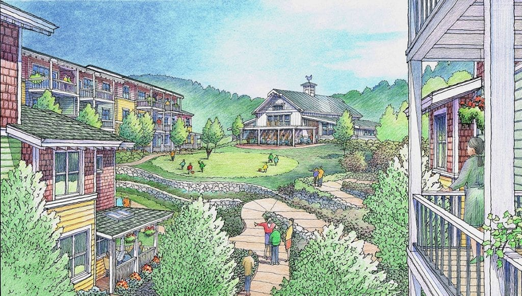 Architectural Rendering of Cohousing Project