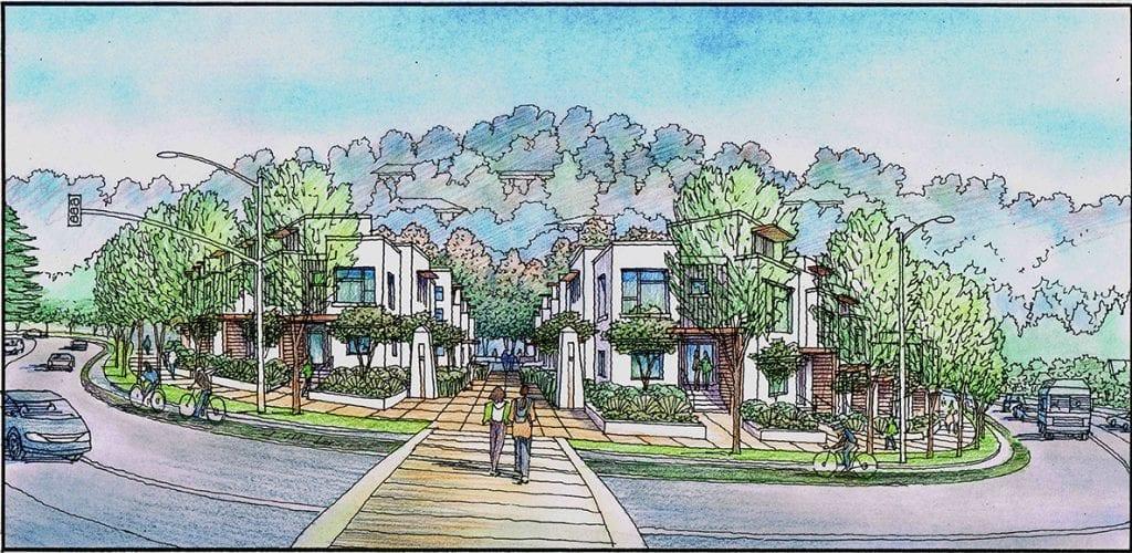 Color Rendering of Oakland College Conceptual Plan