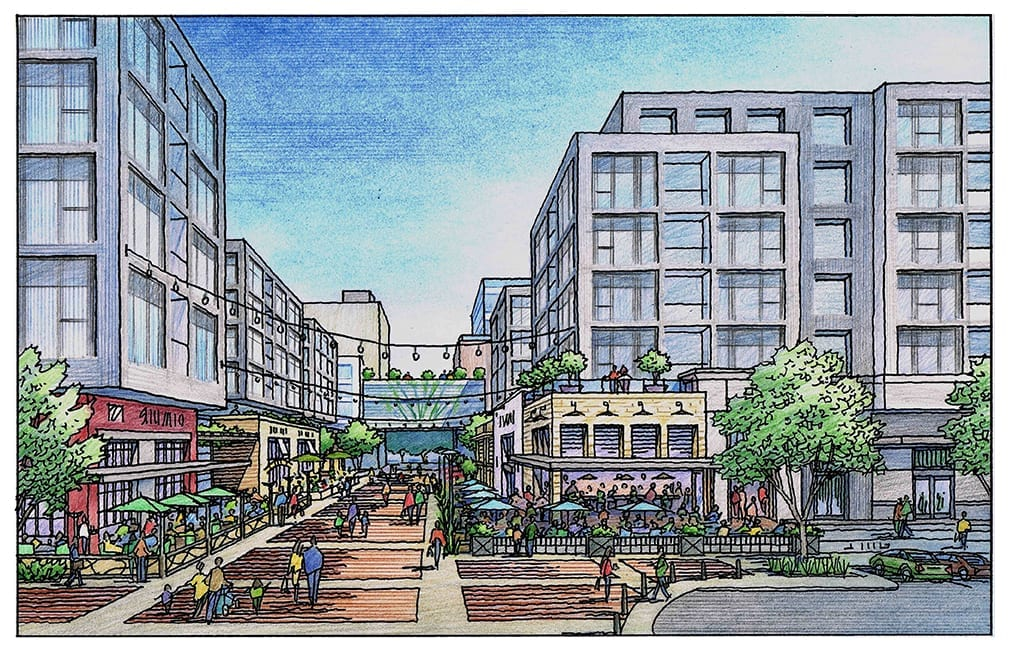 Rendering for Retail Project in San Jose and Saratoga